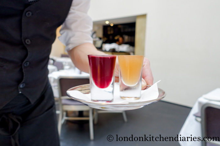 Flavour infused vodkas at Baltic London