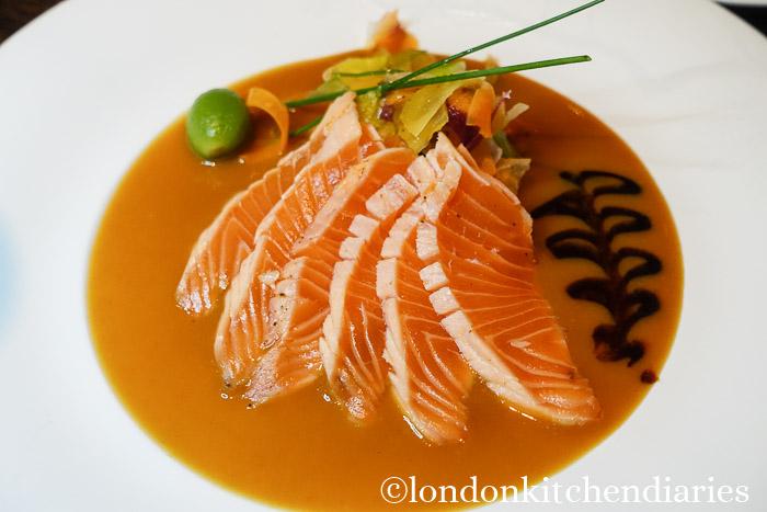 Seared Salmon Karachi Su Miso at Matsuhisa Munich review