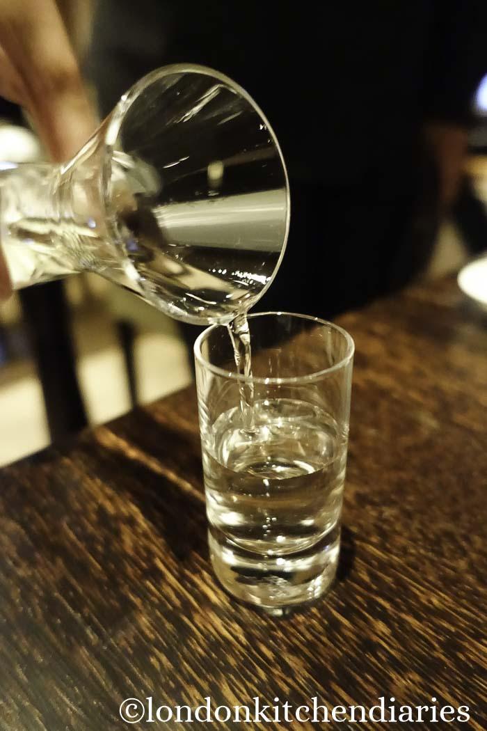 Exclusive selection of sake at Matsuhisa Munich