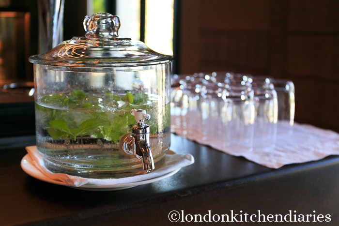 Mint infused water at Six Senses Douro Valley, Portugal