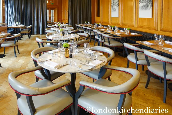 Dining room at Gillray's Steakhouse & Bar London