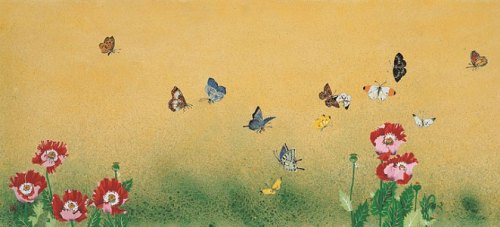 Flowers and Butterflies, by Rho Sook-ja