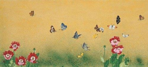 Flowers and Butterflies, by Rho Sook-ja