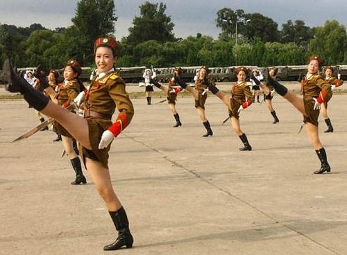 North Korean Military Marching