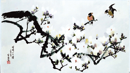 Jung Chang Mo Flower Painting