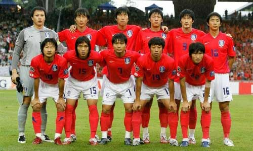 Korean team in Asia Cup