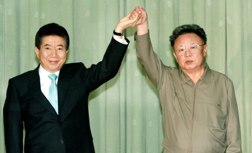 Roh Moo-hyun and Kim Jong Il