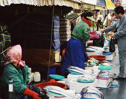 In Jagalchi Fish Market, Busan