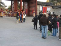 Changing the Guard at the Deoksugung, 15 February 2008 - Queuing for the photo opp