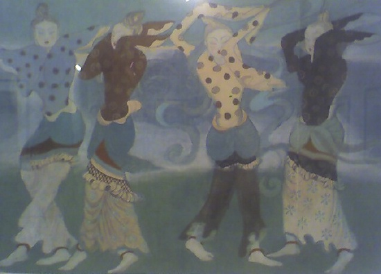 Zhang Daqian: Four Dancing Girls