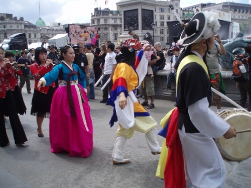 The 2007 Dano Festival in Trafalgar Square