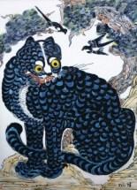 Blue Tiger. Kim So Sun. 33 x 45 cm