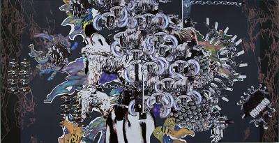 Yutaka Inagawa. Untitled, Collage, Acrylic on canvas, 130×250cm, 2007