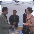Suzannah Clarke with Ambassador Chun