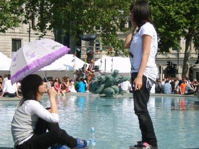 Sun in Trafalgar Square