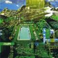 Kang Yujin: Pool (2008) 130 x 130cm. Enamel and acrylic on canvas