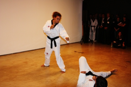 Part of the Jaguar taekwondo team