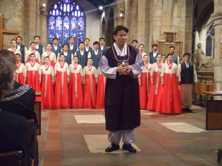 Suwon Civic Chorale in Kingston Parish Church, directed by Min In-Gi