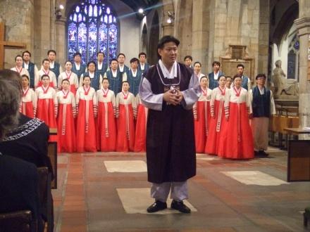 Suwon Civic Chorale in Kingston Parish Church, directed by Min In-Gi