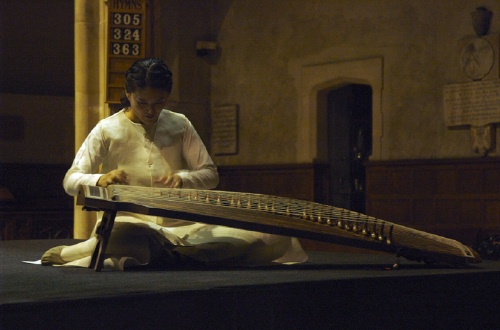 Pak Suna on 25-string gayageum (photo: Jo Seong-hee)