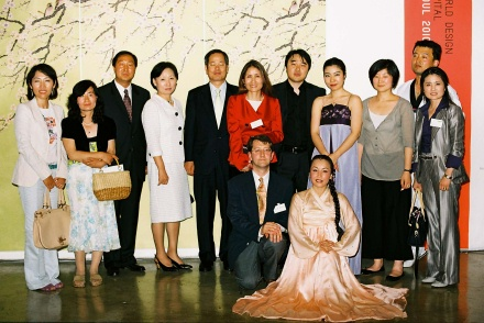 Members of the Korean Artists Association with the Ambassador and the KCC director