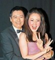 Choi Ji-woo with Chow Yun-fat in Hong Kong