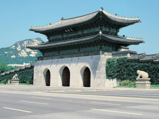 The Gwanghwamun and the race track
