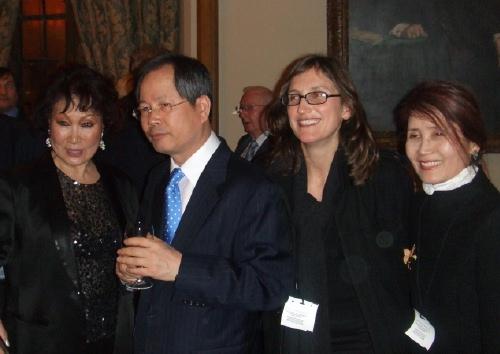 L to R: Sylvia Park, Ambassador Chun, Jennifer Barclay, Francesca Cho