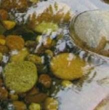 Kim Yeon: Waterside III (resin & pebbles, 10 x 180 x 30cm) (detail)
