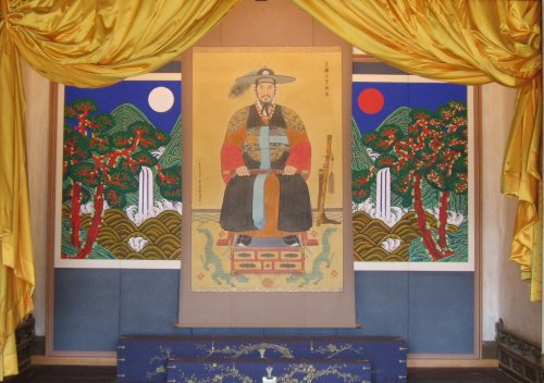 The shrine to King Jeongjo in the Hwaseong Haenggung