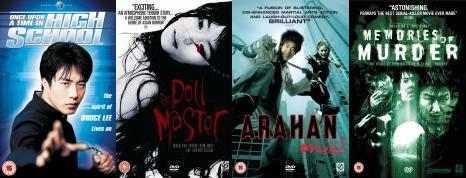 image of dvd covers in the sale