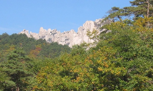Ulsanbawi peak in Seoraksan National Park