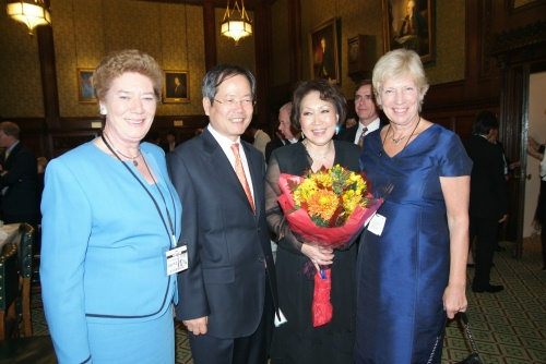 Ambassador Chun and Sylvia Park after the dinner