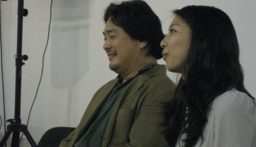 Park Chan-wook and interpreter at the KCC