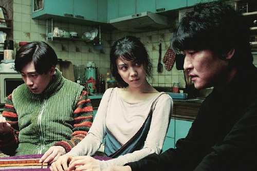 Shin Ha-kyun, Kim Ok-bin and Song Kang-ho play mah-jongg