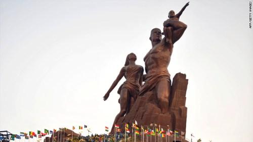 DPRK Senegal statue. Photo:AFP/Getty