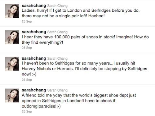 Sarah Chang tweet