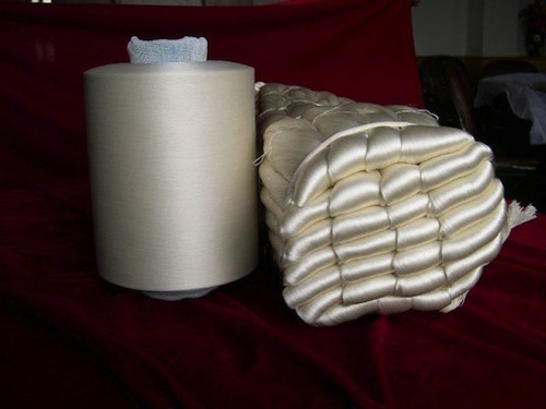 Raw silk yarn