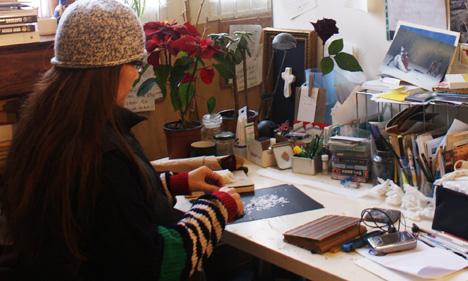 Francesca Cho in her studio