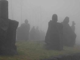 Jeju Stone Park in the mist