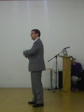 Philip Gowman talking at the KCC