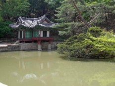 The Buyongji pond and the Buyongjeong pavilion