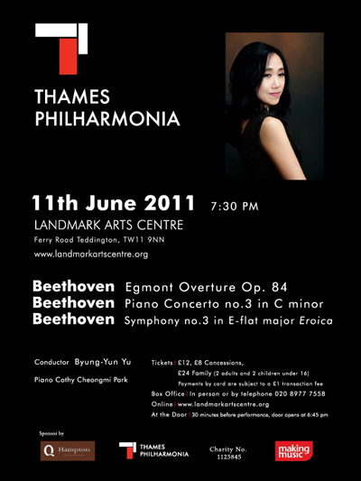 Thames Philharmonia Beethoven poster