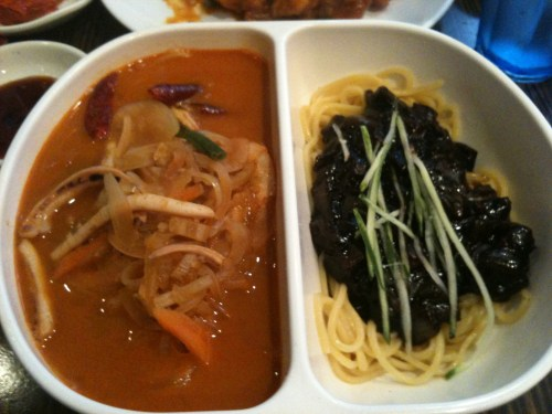 Half-half noodle (짬짜면)