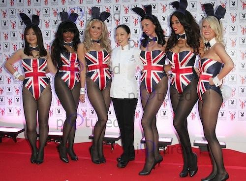 Judy Joo with some Playboy bunnies