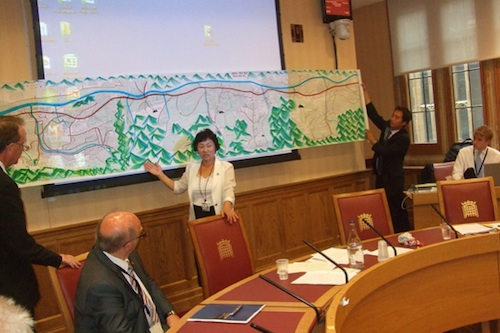 Kim Hye Sook in one of the House of Lords committee rooms