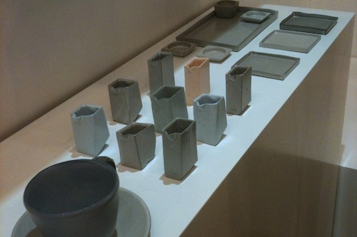 "Some of Soowa's ceramics from their ""Iron"" series"