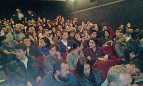 The audience for Yellow Sea at the ICA
