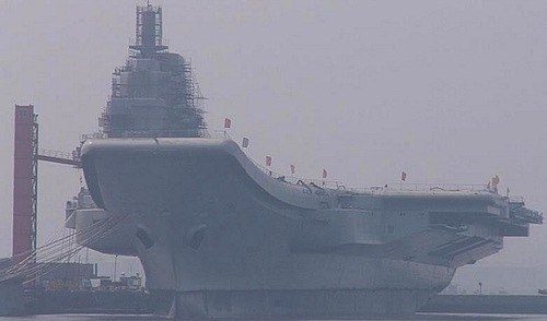 The Chinese aircraft carrier formerly known as the Varyag