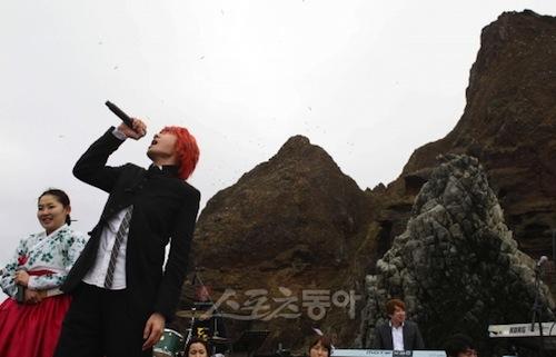 Singer Kim Jang-hoon on Dokdo